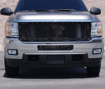 2011 Chevy HD GRILLE,2012 chevy silverado hd grille,2011-12 Chevy Silverado 2500/3500 HD Framed Wire Mesh-Main Grille-Overlay (Black)