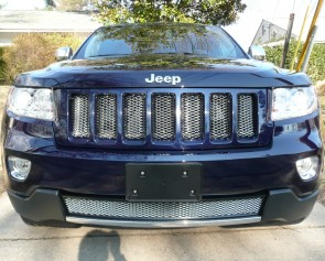 Jeep Grand Cherokee Grille, Chrome jeep Grille, 2011 Chrome Grand Cherokee Grille,2012 Chrome Grand Cherokee Grille, Jeep Overland Chrome Grille, Overland Style chrome grille, Diamond Cut Chrome Grille, Jeep Diamond Cut Chrome, Jeep Chrome Grille