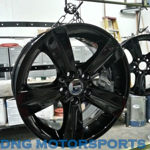 "15"" 16"" 17"" 18"" 19"" 20"" Wheel Powder Coating Service- Gloss, Semi Gloss, and  Matte Black"
